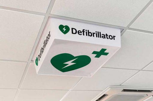 Defibrillator Sign - LED light off
