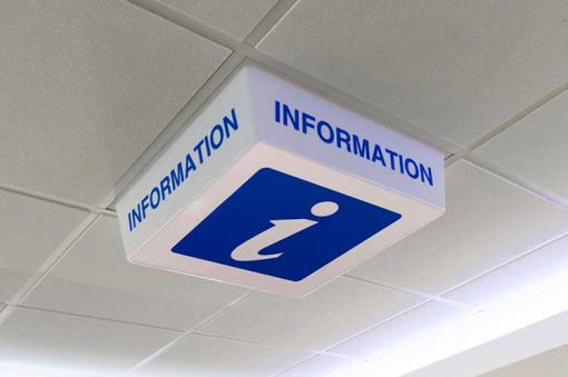 Information Sign - LED light off