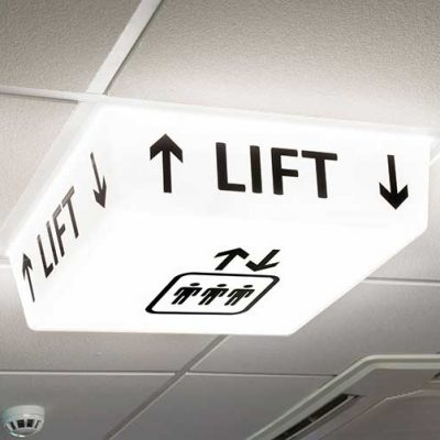 Lift Sign - LED light on