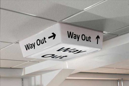 Way Out Sign - LED light off