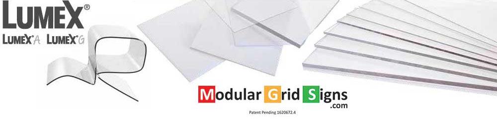 Plastics Data Sheet - Modular Grid Signs