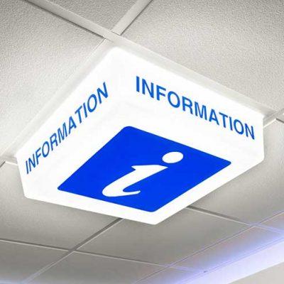 Information Sign - LED light on